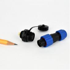 Csatlakozó 13mm IP68 védettség, 4 pin, 10A