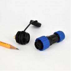 Csatlakozó 16mm IP68 védettség, 4 pin, 5A