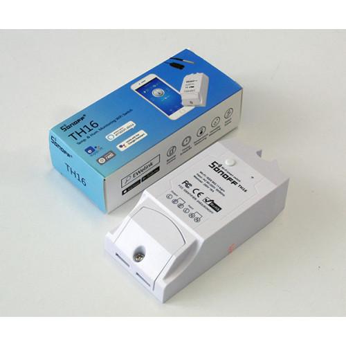 Sonoff TH16 WiFi-s kapcsoló, hőmérséklet és páratartalom